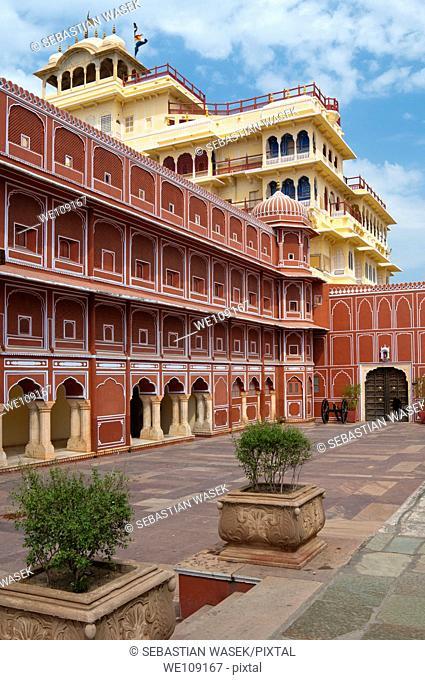 City Palace of Jai Singh II, Chandra Mahal, Jaipur, Rajasthan, India, South Asia