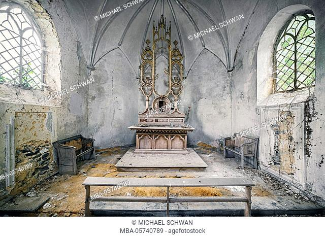 abandoned chapel on the roadside somewhere in Belgium