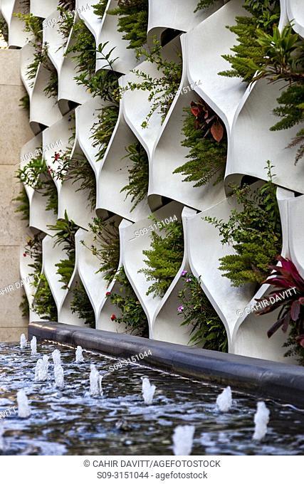 Architectural detail of a planter, Tsim Sha Tsui, Kowloon, Hong Kong, S. A. R. , China