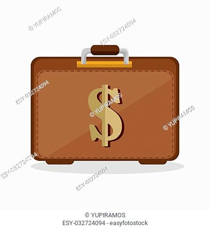 suitcase business save the money icon vector illustration eps 10