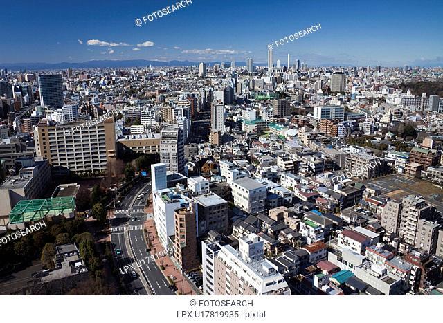 Cityscape from Bunkyo Ward, Tokyo Prefecture, Honshu, Japan