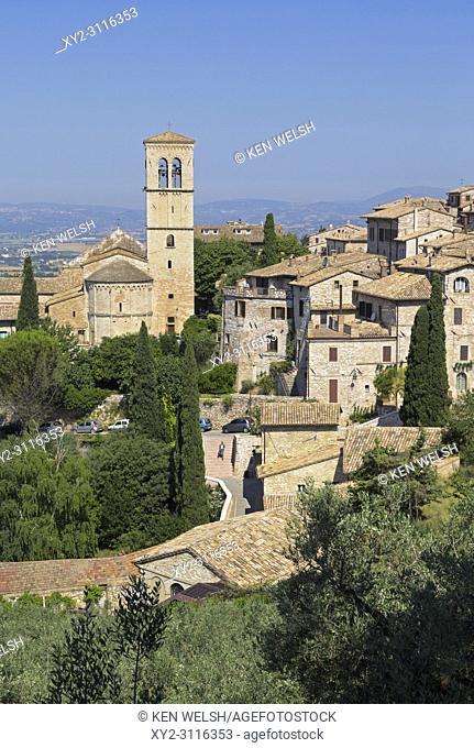 Assisi, Perugia Province, Umbria, Italy. Santa Maria Maggiore Church