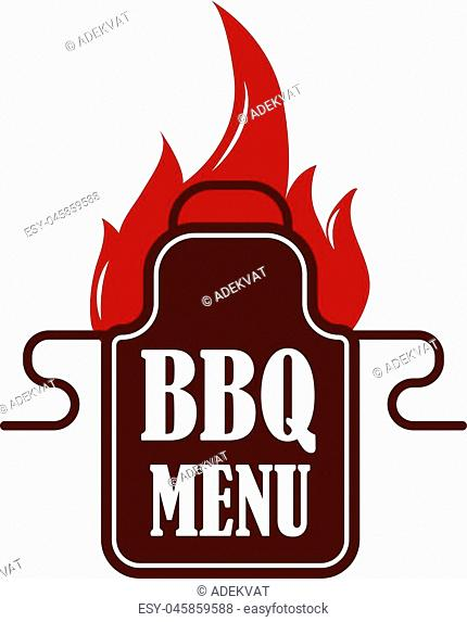 Barbecue logo and grill labels set, badge and emblem. BBQ logo vector template isolated on white background. Steak house restaurant menu BBQ logo design element