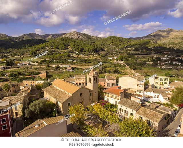Iglesia del Sant Crist , siglo XIX, S'Arracó, término de Andratx, Mallorca, balearic islands, Spain