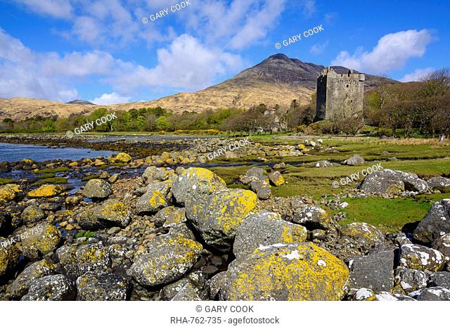 Moy Castle, Lochbuie, Isle of Mull, Inner Hebrides, Argyll and Bute, Scotland, United Kingdom, Europe