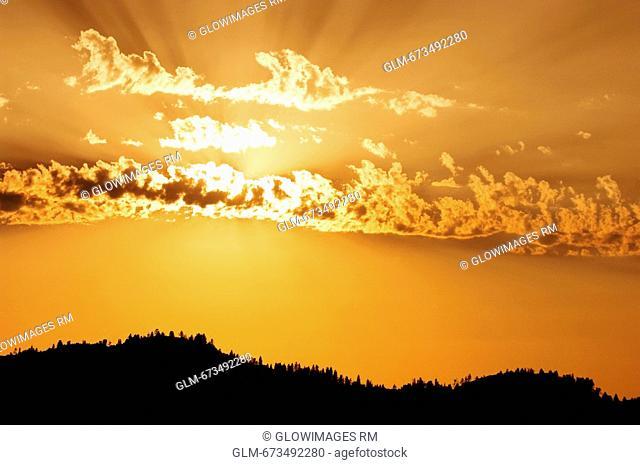 Panoramic view of the sky, Shasta Lake, California, USA