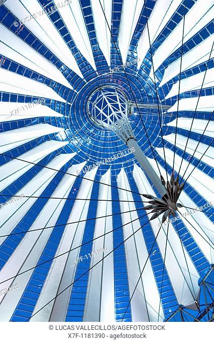 Cupola of Sony Center Berlin  Germany