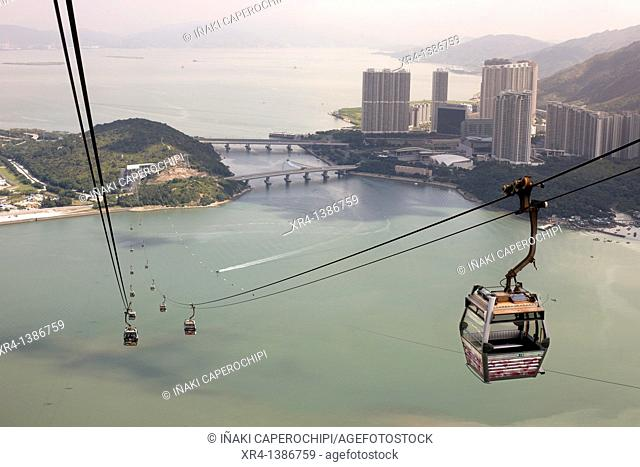 Ngong Ping cable car, Lantau Island, Hong Kong, China