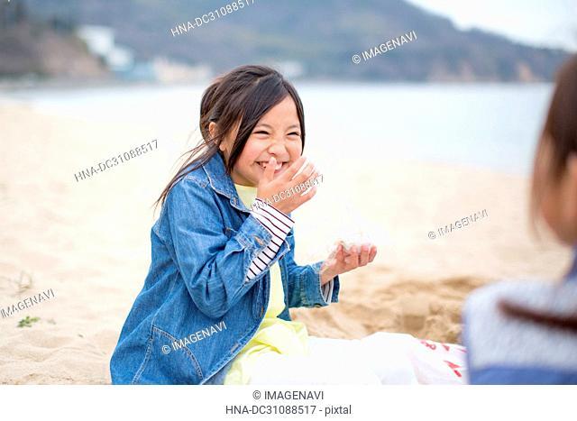 Children Playing Seashore