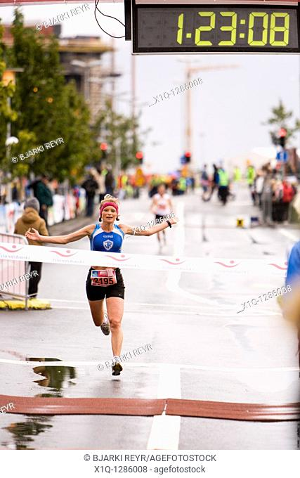 Martha Ernstdottir, winner, half-marathon, 2009 Reykjavik Marathon  Reykjavik Iceland