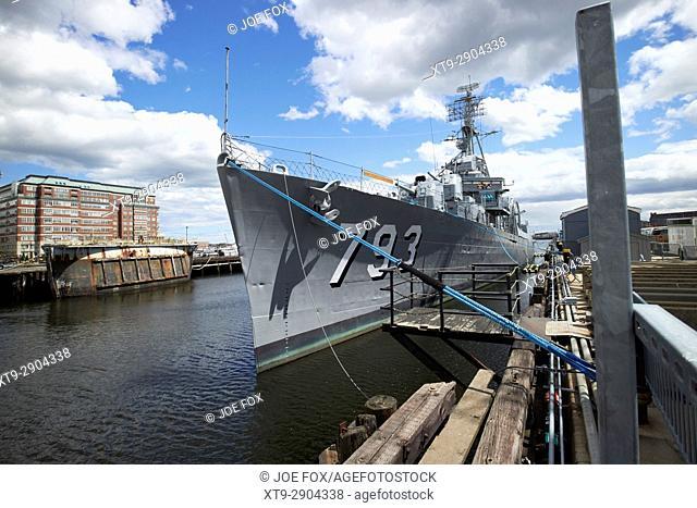 uss cassin young at Charlestown navy yard Boston USA