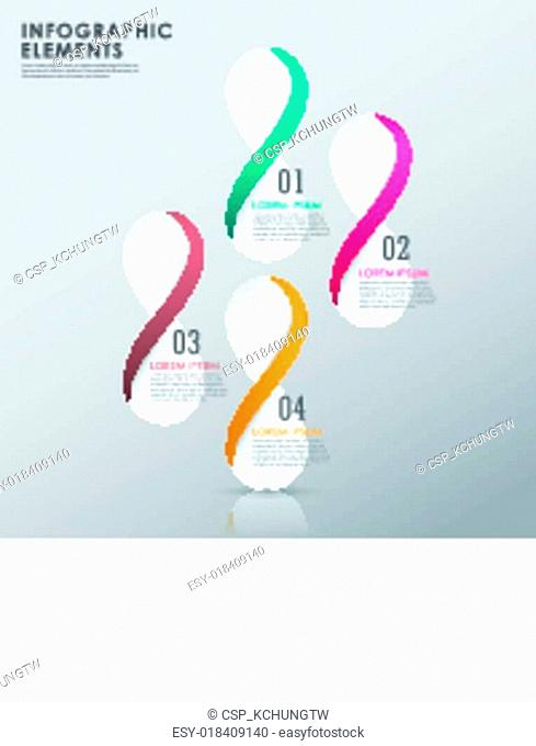 modern colorful infinity symbol infographic elements