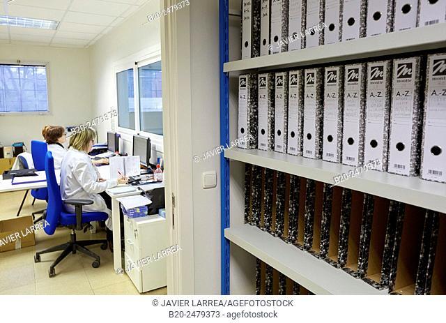 Administrative office warehouse, Hospital Donostia, San Sebastian, Gipuzkoa, Basque Country, Spain