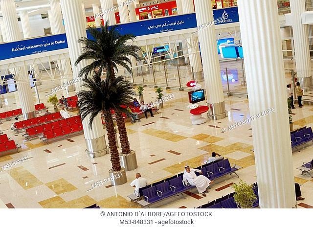 the new dubai airport terminal 3  dubai  united arab emirates  middle east
