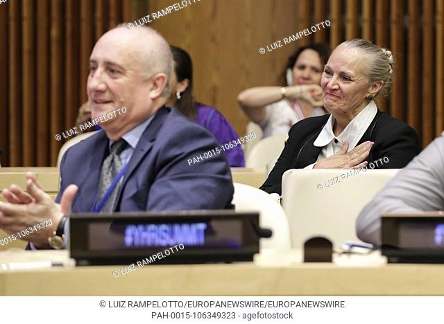 United Nations, New York, USA, July 06 2018 - Mary Shuttleworth Founder & President Youth for Human Rights International participated on the 15th Annual...