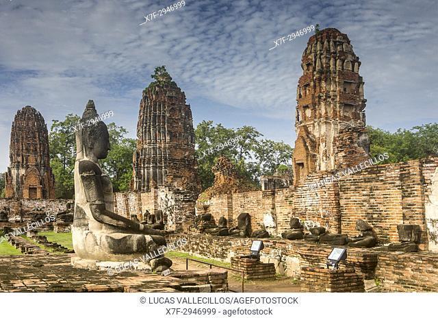 Wat Mahathat temple, in Ayutthaya, Thailand