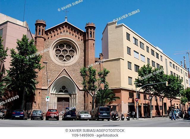 Esglesia, Escola Dominiques, Carrer Mallorca, Barcelona
