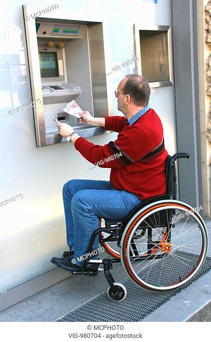 Man in a wheel chair . - 02/09/2008