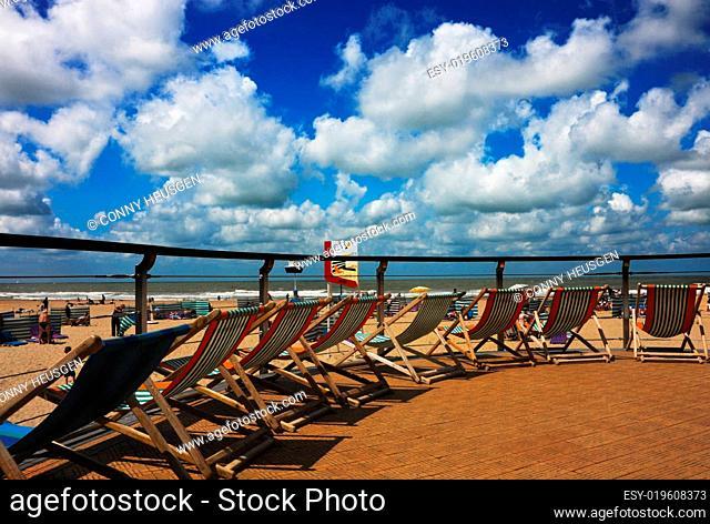 Strandstühle in Ostende