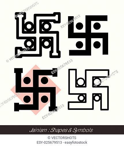 Swastika Symbol Of Jainism Religion Stock Photos And Images Age