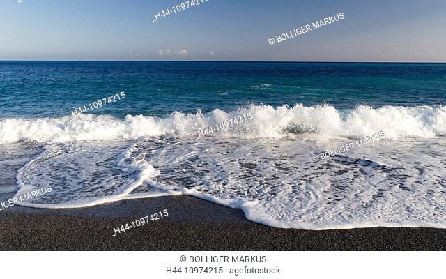 Greece, Europe, horizon, Crete, coast, Lybian sea, sea, Mediterranean Sea, nature, Sougia, beach, seashore, water, Mediterranean