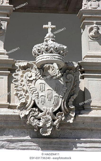Details of an old palace in Viana do Castelo, Portugal