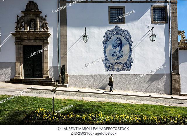 Azulejos of the Church of Our Lady of Mount Carmel. Guimaraes, Braga District, Norte Region, Portugal, Europe