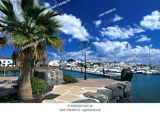 Lanzarote, Canaries, Canary islands, island, Spain, Europe, outside, daytime, Playa Blanca, marina, harbor, harbor, po