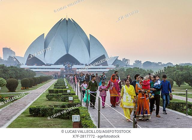 Lotus Temple of the Bahai faith, New Delhi, India
