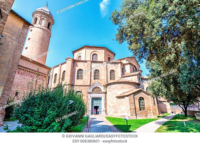Ravenna, Italy. Famous San Vitale Cathedral, exterior view