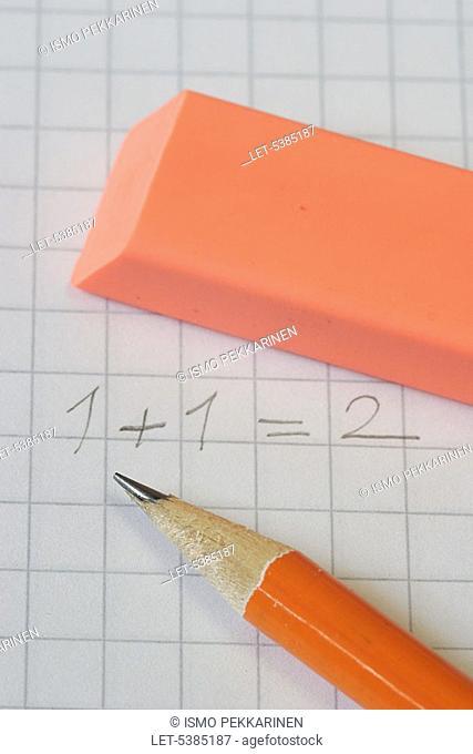 School  Mathematics  Pencil and rubber  Finland