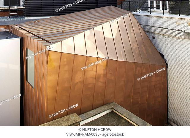 ROYAL ACADEMY OF MUSIC, JOHN MCASLAN & PARTNERS, 2002. EXTERIOR ELEVATED SHOT SHOWING THE NEW COPPER ROOF
