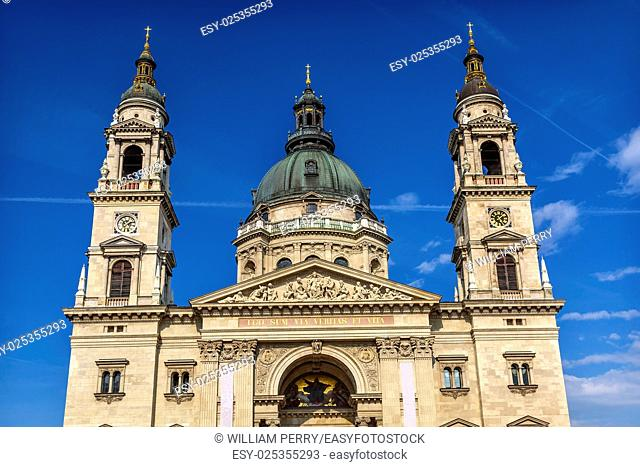 Saint Stephens Cathedral Budapest Hungary. Saint Stephens named after King Stephens who brought Christianity to Hungary. Cathedral built in the 1800s and...