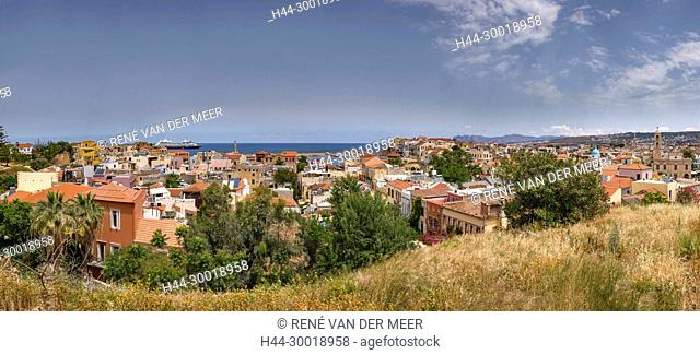 View over the city from the West Venetian Walls, Chania, Greece