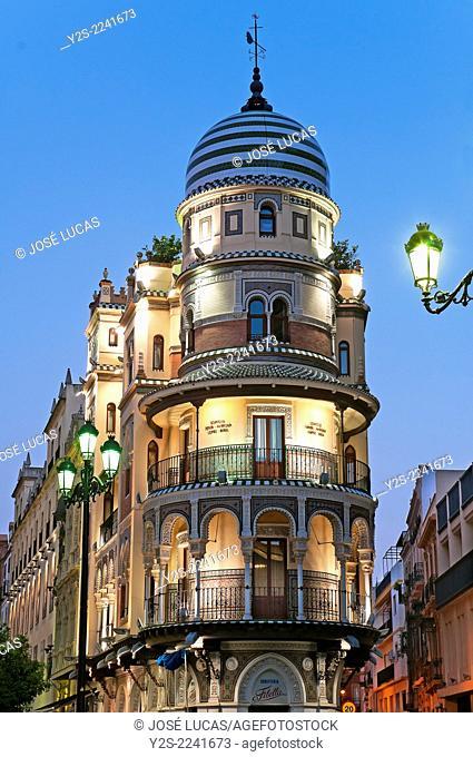 """""""""""La Adriatica"""" building - year 1922, Seville, Region of Andalusia, Spain, Europe"