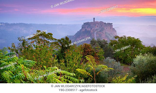 Bagnoregio at sunrise, Italy