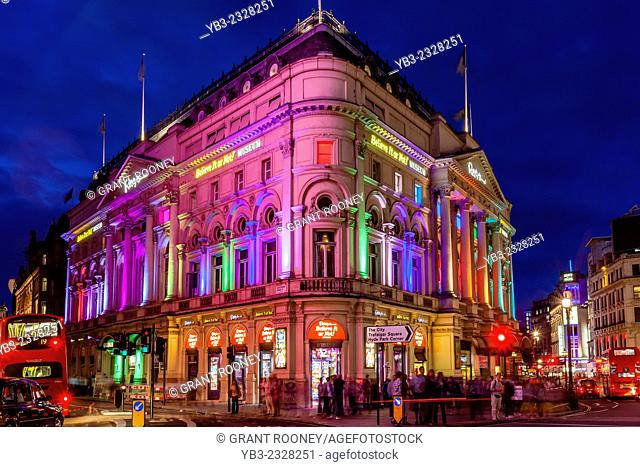 Piccadilly Circus At Night, London, England