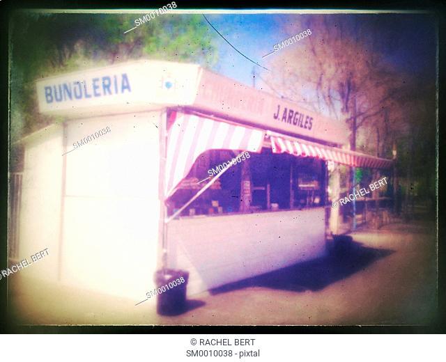 Buñuelos kiosk, Barcelona, Catalonia