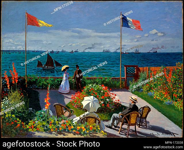 Garden at Sainte-Adresse. Artist: Claude Monet (French, Paris 1840-1926 Giverny); Date: 1867; Medium: Oil on canvas; Dimensions: 38 5/8 x 51 1/8 in