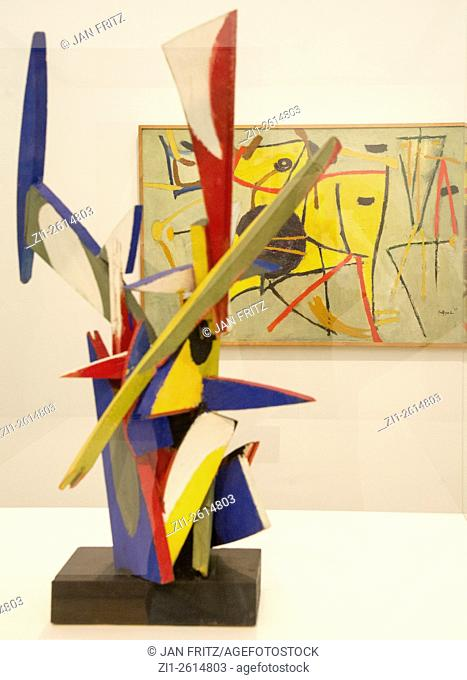 'contruction no. 2' and 'sun beast and man'from Karel Appel