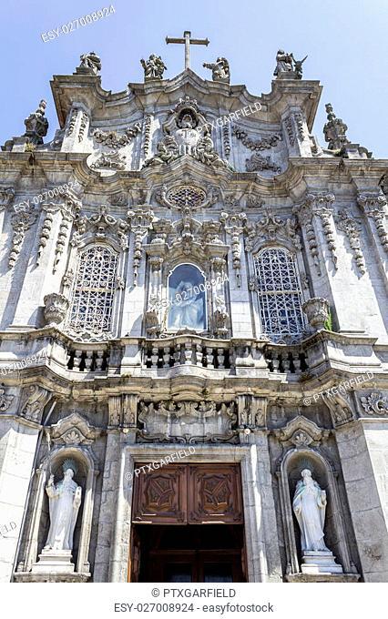 Carmo Church facade detail, in Porto. Portugal
