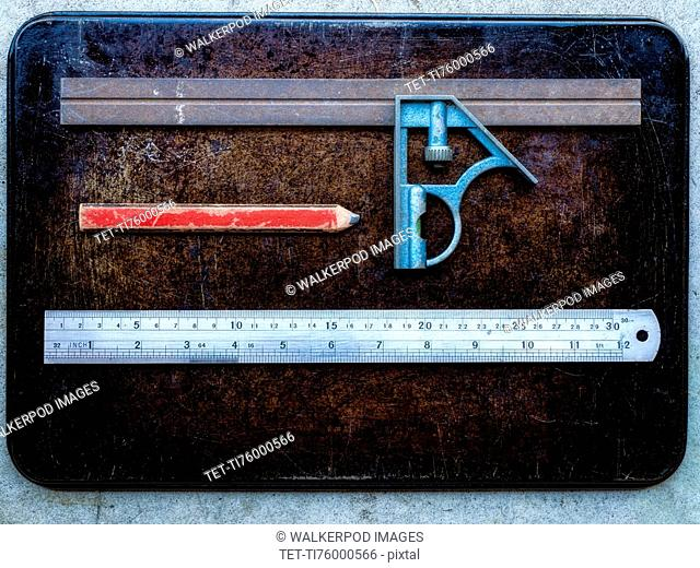 Rulers and pencil