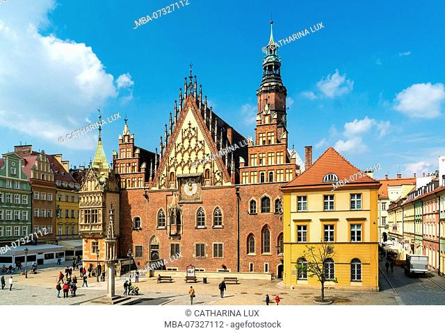 Poland, Wroclaw, old town, Rynek, old town Hall, Stary Ratusz