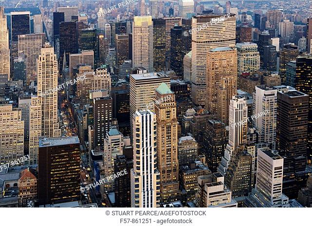 Aerial view of New York City, USA