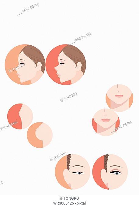 Illustration for beauty magazine