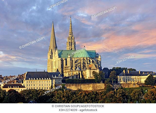 Cathedral of Our Lady of Chartres, Eure et Loir department, region Centre, France, Europe