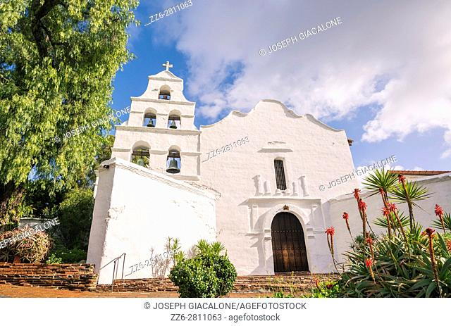 Mission Basilica San Diego de Alcalá building. Mission Valley, San Diego, California