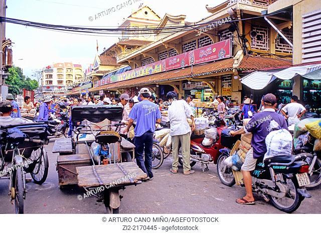 Bén Thành Market. Ho Chi Minh City, formerly named Saigon, Vietnam