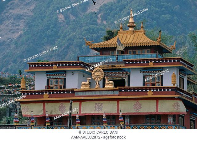 Jangchub Choeling Monastery In Tibetan Refugee Settlement, Pokhara, Nepal