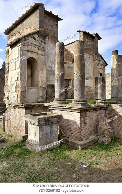 Naples Campania Italy. Pompeiiwas an ancientRomancity near modernNaplesin theCampaniaregion ofItaly, in the territory of thecomuneofPompei